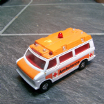 CORGI Ambulance Chevrolet Van Orange White 80's loose vgc diecast model @SOLD@